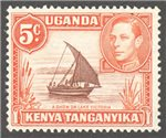 Kenya, Uganda and Tanganyika Scott 68a Used